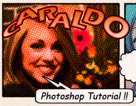photoshop レトロな漫画の効果