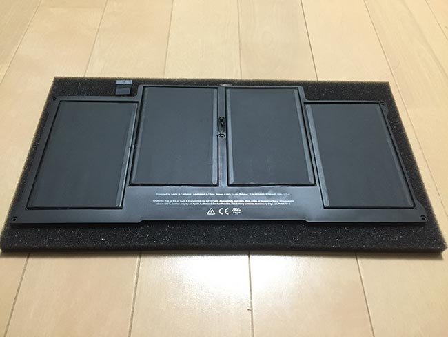 MacBook Air バッテリー交換 純正
