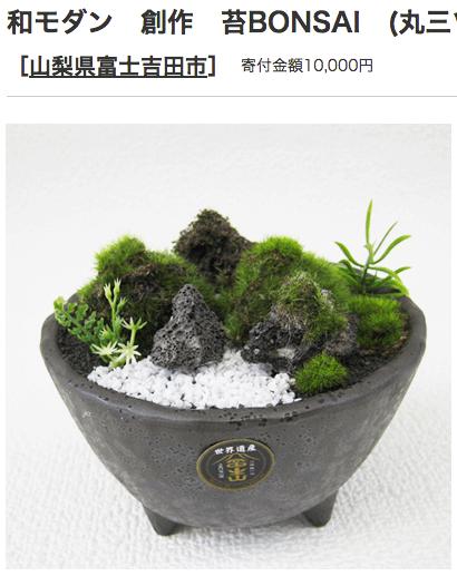 ふるさと納税 山梨県富士吉田市 苔盆栽